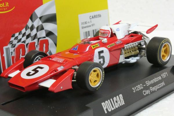 CAR05B Policar Ferrari 312 B2 Silverstone 1971 Clay Regazzoni, #5 1:32 Slot Car