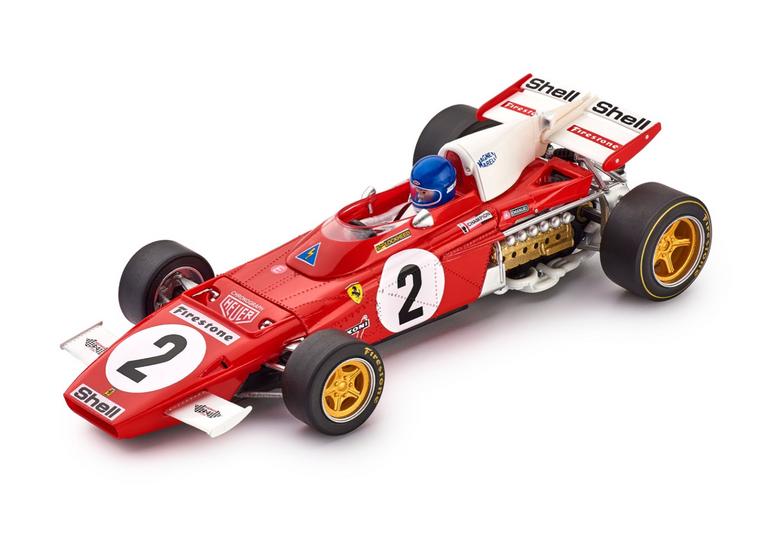 CAR05A Policar Ferrari 312 B2 Jacky Ickx Zandvoort GP 1971, #2 1:32 Slot Car