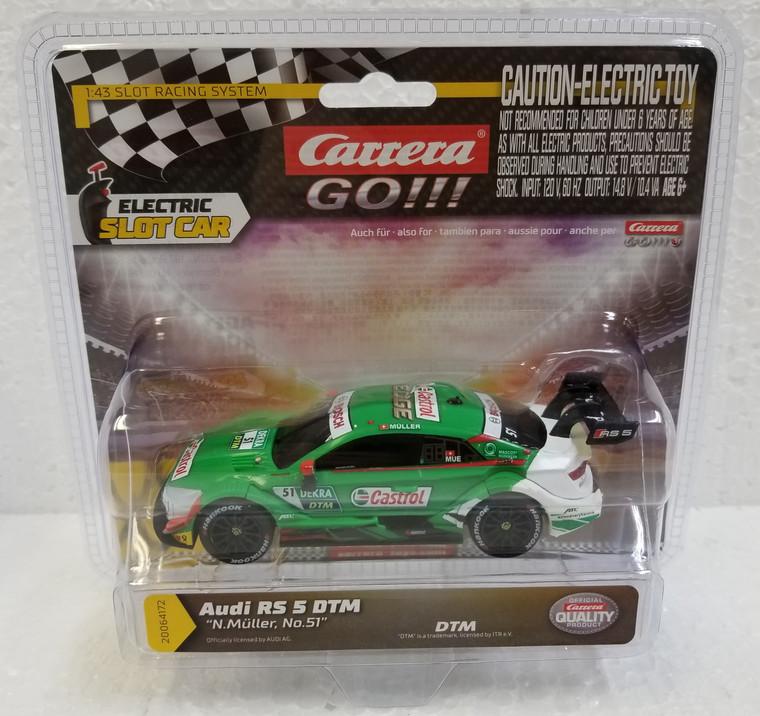 64172 Carrera GO!!! Audi RS 5 DTM N. Müller, #51 1:43 Slot Car