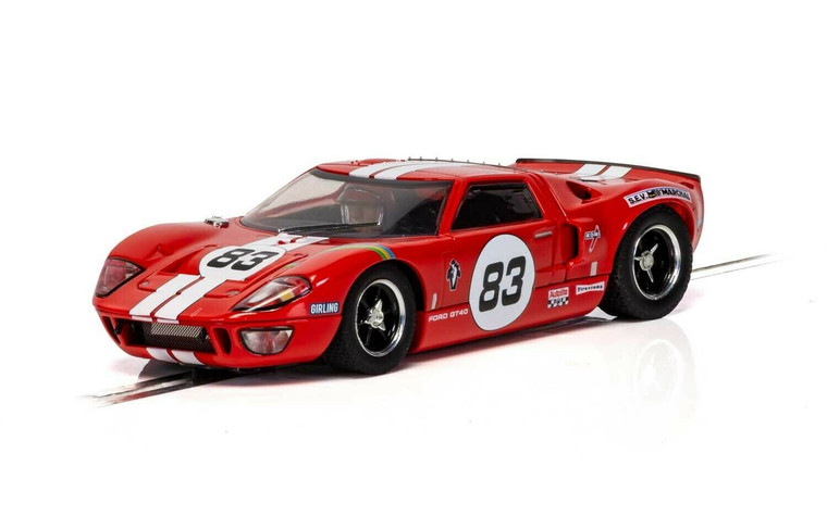 C4152 Scalextric Ford GT40 - Red, #83 1:32 Slot Car *DPR*