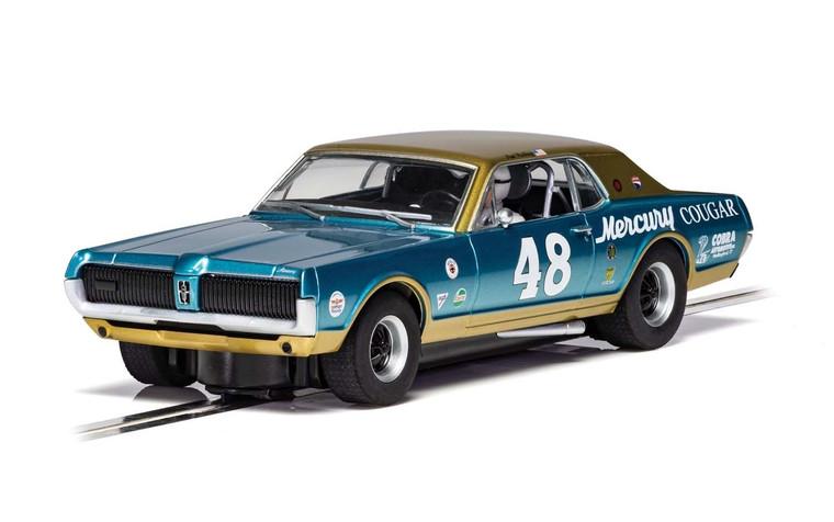 C4160 Scalextric Mercury Cougar, #48 1:32 Slot Car *DPR*