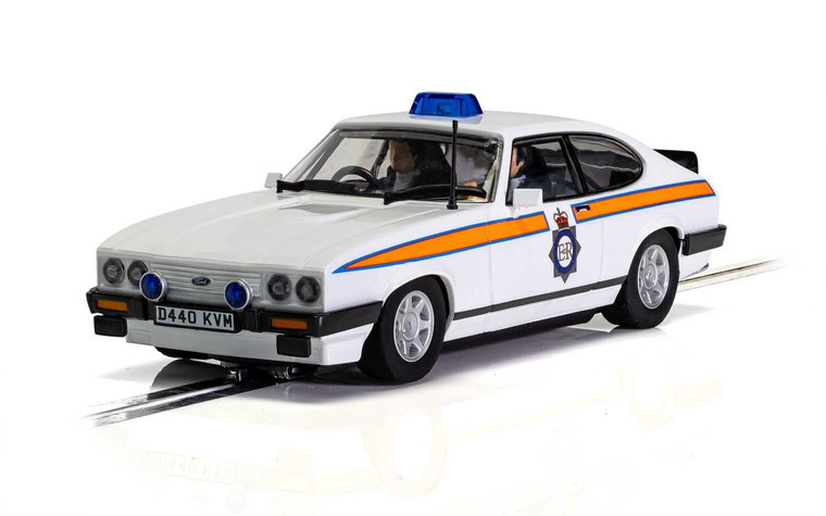 C4153 Scalextric Ford Capri MK3 Greater Manchester Police 1:32 Slot Car *DPR*