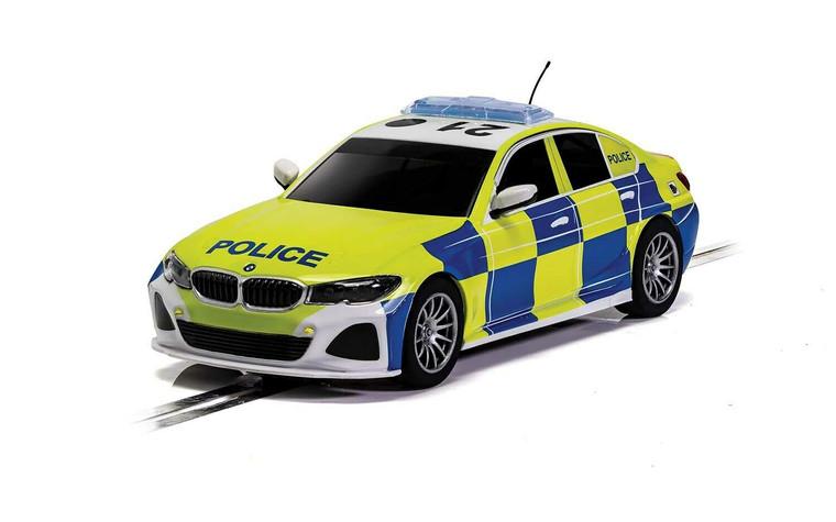 C4165 Scalextric BMW 330i M-Sport Police Car 1:32 Slot Car *DPR*