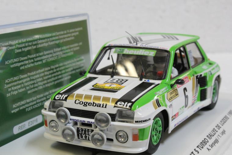 E2016 Fly Renault 5 Rallye De Lozere 1985, #6 1:32 Slot Car