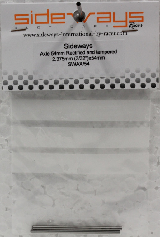 SWAX/54 Racer Sideways  3/32 2.37 X 54mm Axle Tempered and Rectified SWAX/48 Racer Sideways  3/32 2.37 X 48mm Axle Tempered and Rectified 1:32 Slot Car Part