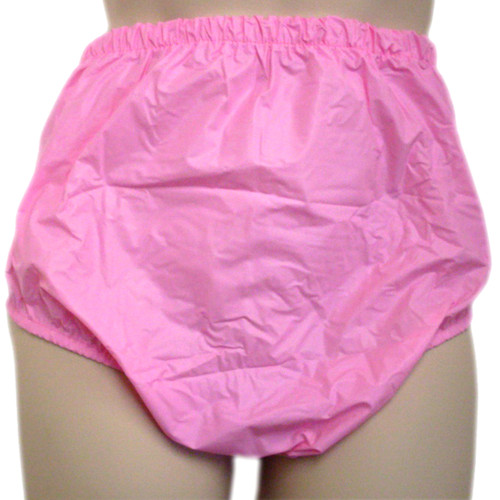 pink plastic pull up pants for adults