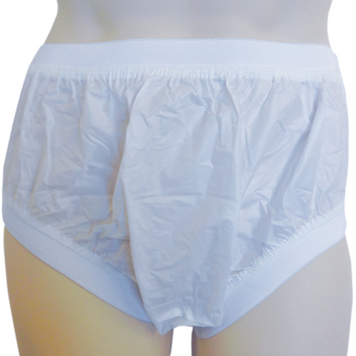 White Wide Elastic Comfort Plastic Pull Up PVC Pants for adults ABDL Adult Baby Diaper lovers