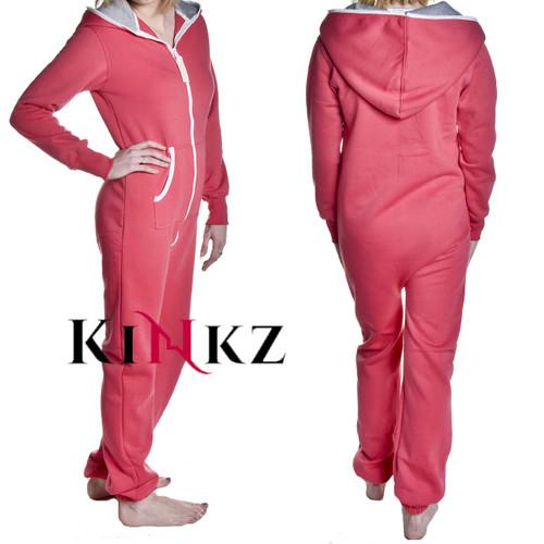Pink adult footless onesie