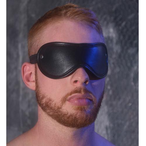 Rouge Leather blindfold eyemask Bondage BDSM Slave Black Red Blue Pink Purple Brown White