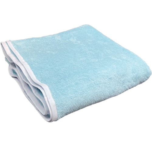 """Cuddlz Baby Blue 48"""" x 48"""" (122cmx122cm) Terry Towelling Adult Nappy Diaper ABDL Cotton Towel Nappy Medium to Large Washable Reusable Nappies"""