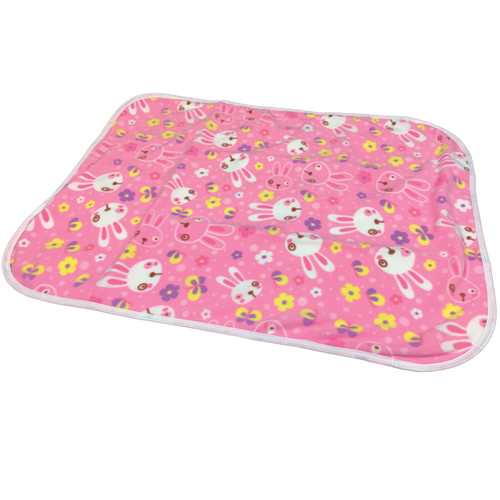 Cuddlz Pink Bunny Pattern Fleece Adult Baby ABDL Extra Large Size Changing Mat