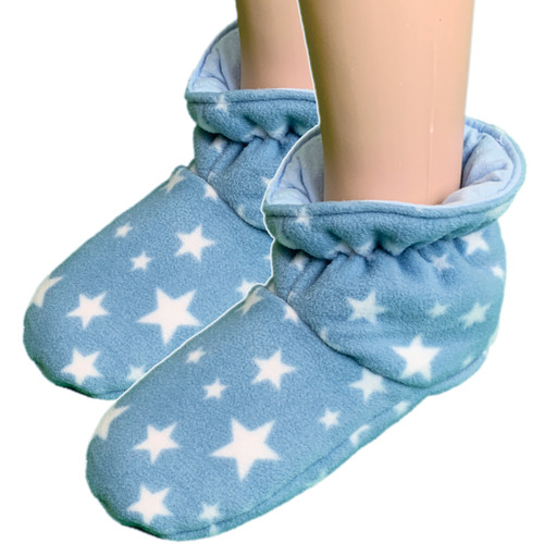 Cuddlz Blue Star Pattern fleece adult baby padded booties fetish matching abdl booties and mittens