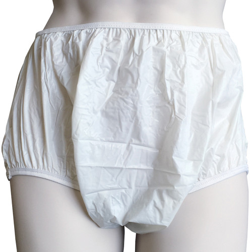 Cuddlz Milky White plastic pull up pants for adults ABDL diaper lovers adult baby pvc pants