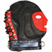 black and red Rouge Leather Full Face Gimp Mask Hood With D Ring And Lockable Buckle Black Red Yellow White Blue Bondage BDSM Slave