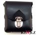 Black leather bondage style belt pouch bdsm fetish slave master