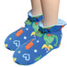 Blue Dinosaur Cuddlz fleece adult baby padded booties fetish matching abdl booties and mittens