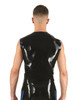 Mister B Rubber Sleeveless Vest T-Shirt Black and Blue