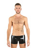 Mister B Rubber Trunk Shorts Black And Blue