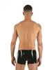 Mister B Rubber Trunk Shorts Black And White