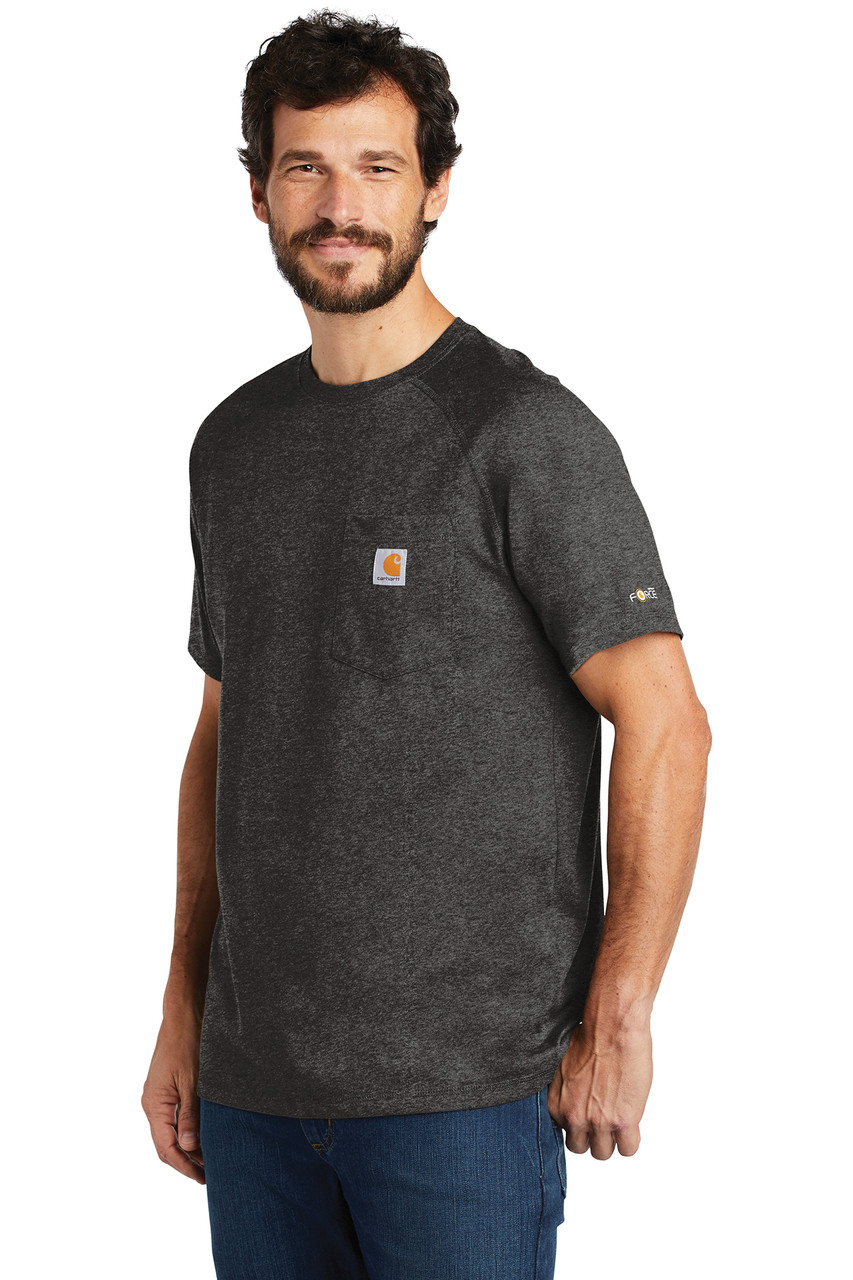 8ba67c27 Carhartt Force ® Cotton Delmont Short Sleeve T-Shirt ~ Carbon Heather -  Studio 360 Apparel ~ Tees & More