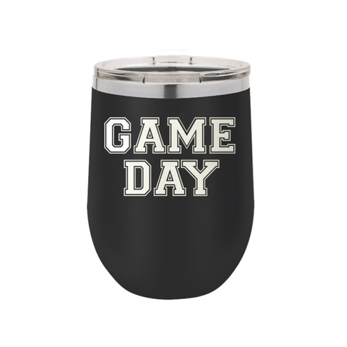 Black Game Day 12oz Insulated Tumbler