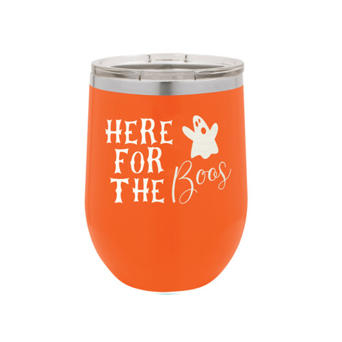 Orange Here For The Boos 12oz Insulated Tumbler/Pre-Printed