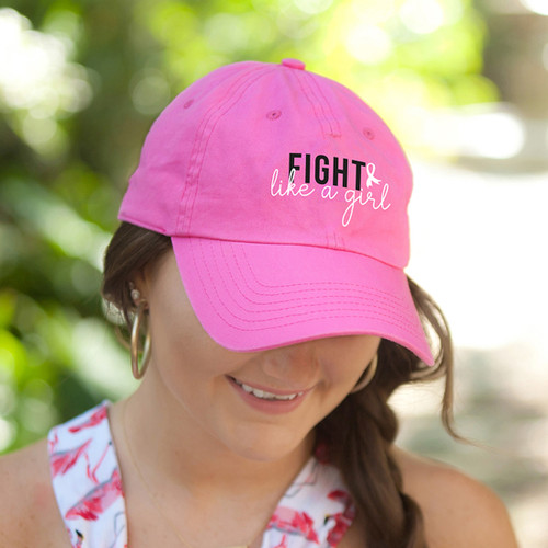 Fight Like A Girl Hot Pink Cap
