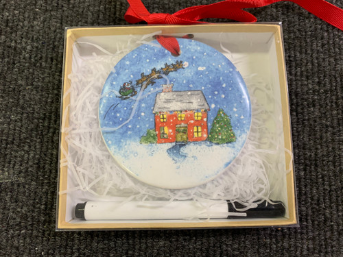 Porcelain Ornament - Twas the Night before Christmas