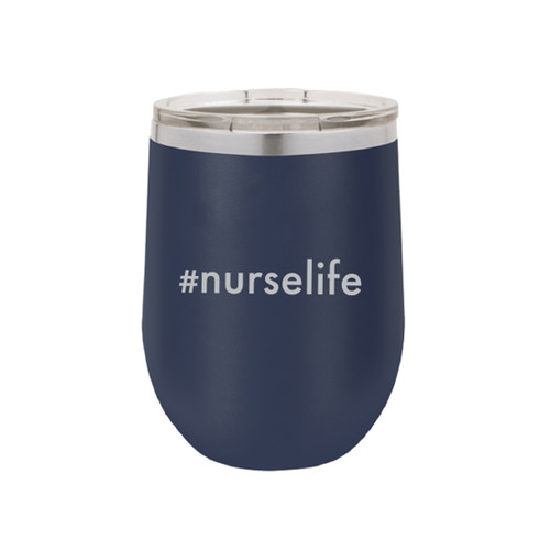 Nurse Life 12oz Navy Tumbler