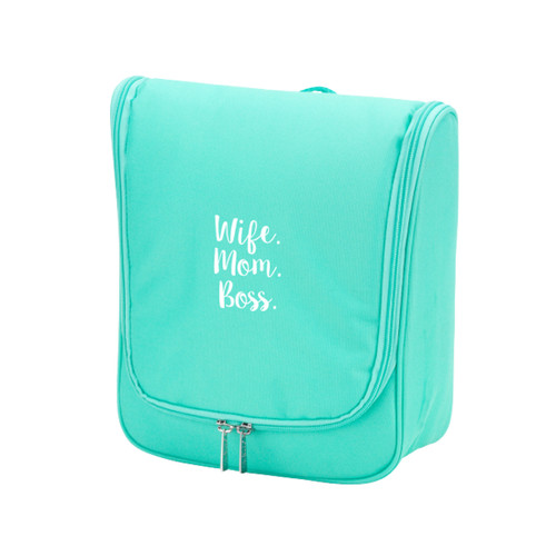 Wife.Mom.Boss. Mint Hanging Travel Case
