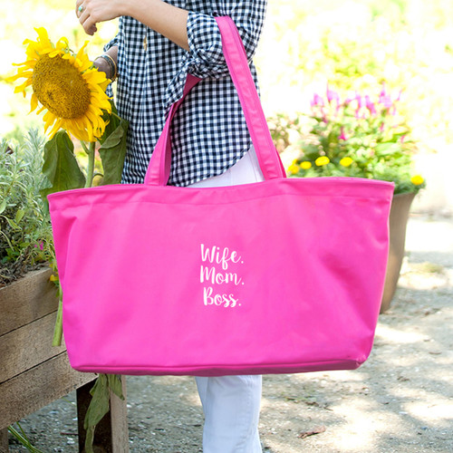 Wife.Mom.Boss. Hot Pink Ultimate Tote