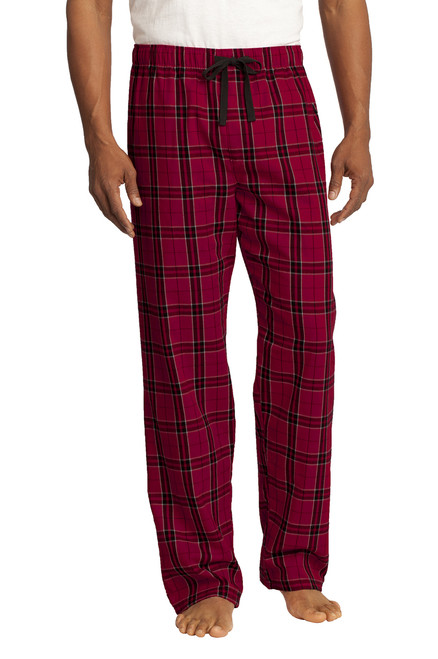 District ® Men's New Red Flannel Plaid Pants