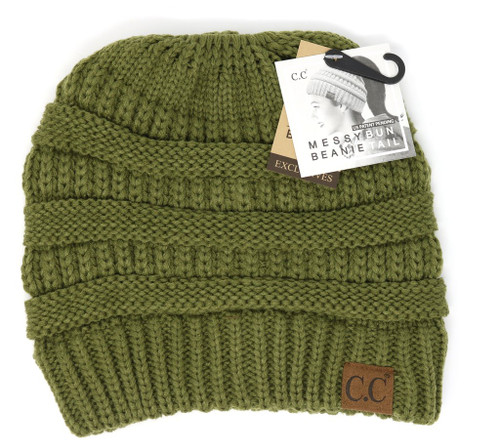 SOLID CLASSIC CC BEANIE TAIL-OLIVE