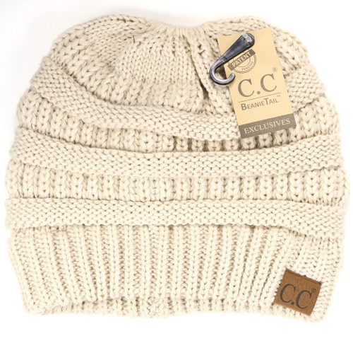SOLID CLASSIC CC BEANIE TAIL-BEIGE