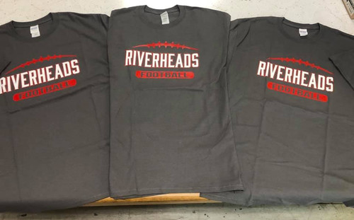 Riverheads Football Grey Short Sleeve T-Shirt - Size M