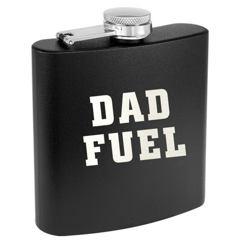 Dad Fuel 6oz Black Insulated Flask