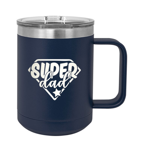 Super Dad 15oz Navy Insulated Mug