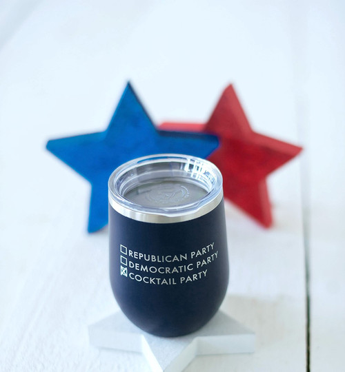Navy Cocktail Party 12oz Insulated Tumbler