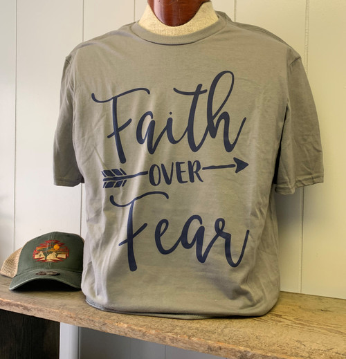 Faith over Fear - Grey/Navy