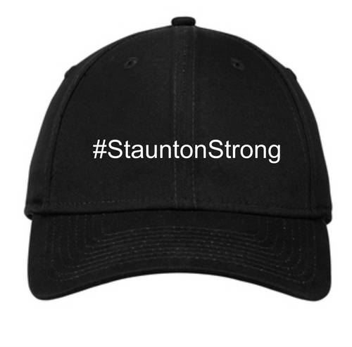 #StauntonStrong Adjustable Structured Cap-Black