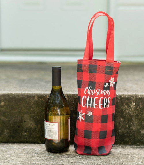 Christmas Cheers Cotton Wine Bag