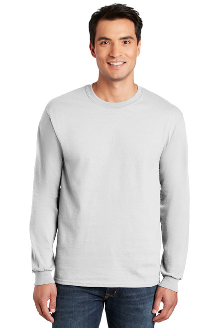 GARR White Long Sleeve Cotton Tee w/logo