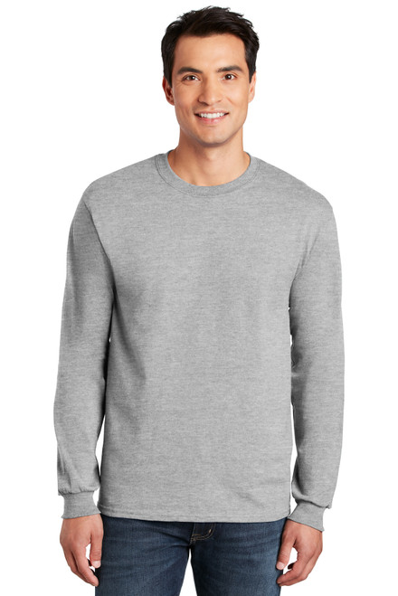 GARR Ash Grey Long Sleeve Cotton Tee w/Logo