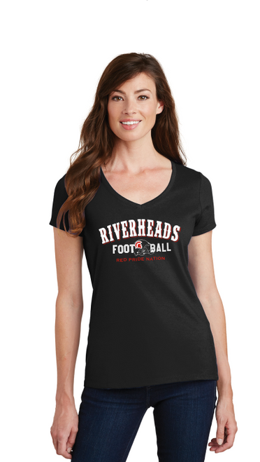 Riverheads Football Ladies  Cotton V-Neck Tee