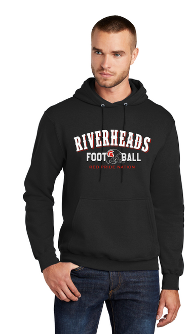 Riverheads Football Fleece Pullover Hooded Sweatshirt