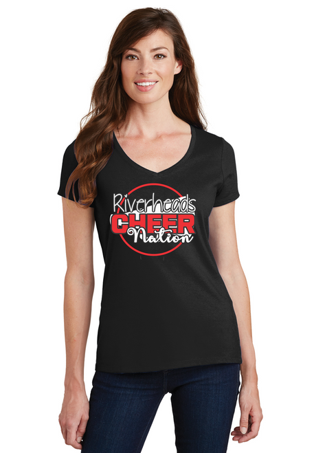 Riverheads Cheer Ladies V-Neck Tee