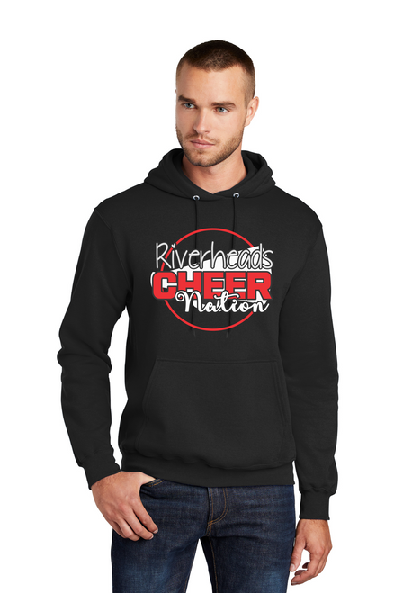 Riverheads Cheer Fleece Pullover Hooded Sweatshirt