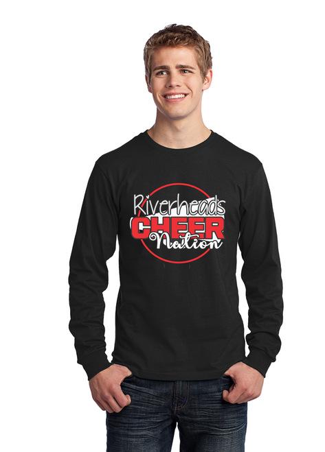 Riverheads Cheer Long Sleeve Cotton Tee