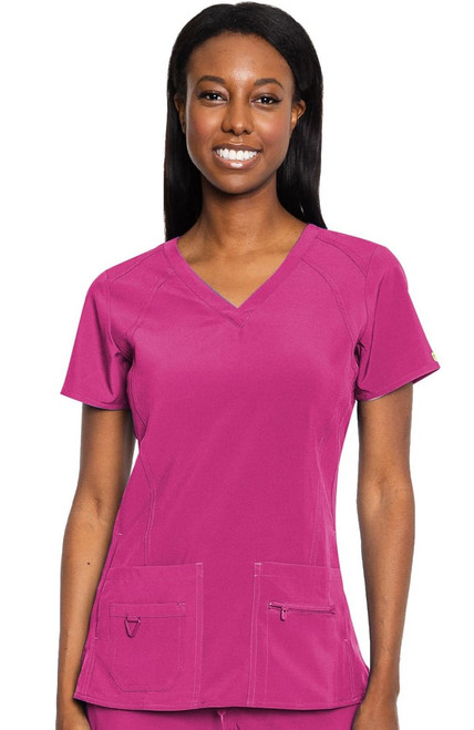 Pink Activate Scrubs - Refined Sport Knit Top -Size XL - 1 Left