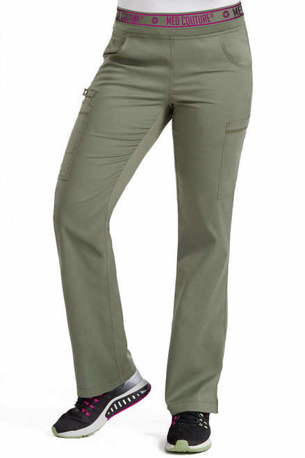 Olive Touch Yoga 2 Cargo Pocket Scrub Pant - Size S Tall - 2 left